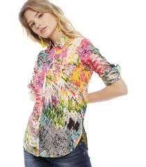 blusa desigual ml multicolor - calce holgado