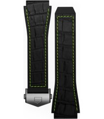tag heuer men's connected black rubber smart watch strap