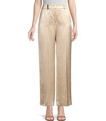 peserico women's satin pants - champagne - size 42 (6)