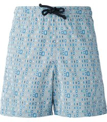 fashion clinic timeless geometric print swim shorts - blue