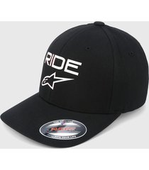 gorra negro-blanco alpinestars