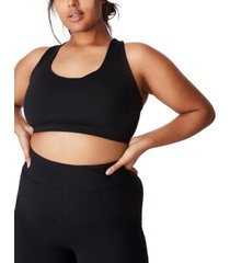 trendy plus size strappy crop top