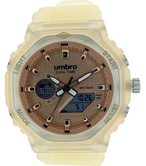 reloj transparente beige umbro