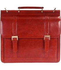 mancini signature collection double compartment laptop briefcase