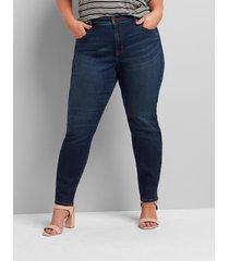 lane bryant women's curvy fit high-rise skinny jean - dark wash 28l dark denim