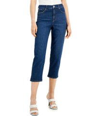 inc high rise cropped straight-leg jeans, created for macy's