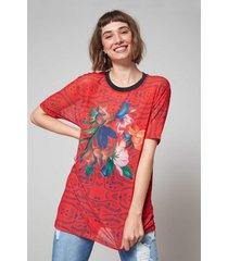 blusas e camisas oh, boy! t-shirt vermelho