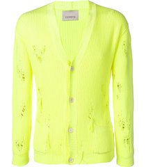 laneus destroyed cardigan - yellow