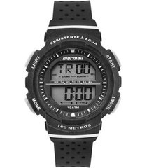 relógio mormaii digital fun mo36508r preto/branco