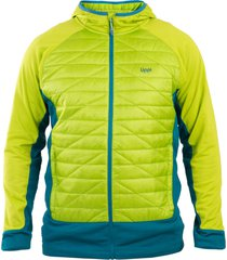 parka fleece steam-pro light jacket hoodie verde manzana lippi