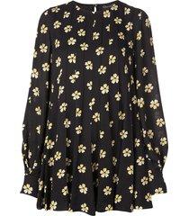 oscar de la renta blossom dress - black
