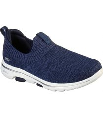 zapatos mujer  go walk 5 - trendy azul skechers