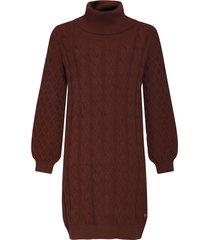 gebreide jurk met col en kabels kleur (20632)
