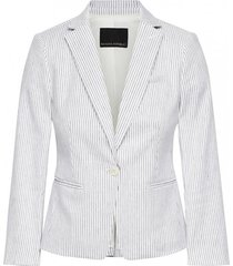 blazer shrunken linen stripe blanco banana republic
