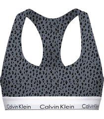 calvin klein bralette cheetah grey - jn7