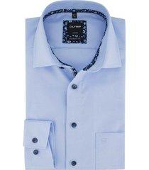 blauw overhemd olymp luxor modern fit