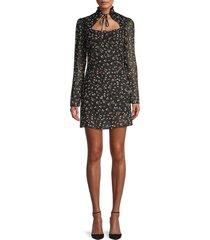 70/21 women's floral chiffon dress - size l