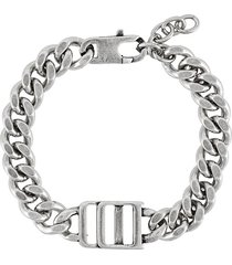 dsquared2 chunky logo chain bracelet - silver