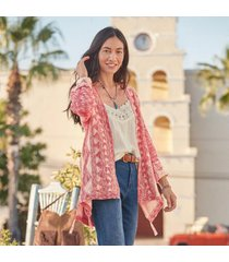 sundance catalog women's vera rose cardigan in apple small