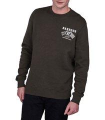 men's barbour a7 crewneck sweatshirt, size xx-large - green