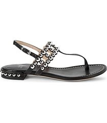 taxi studded thong sandals