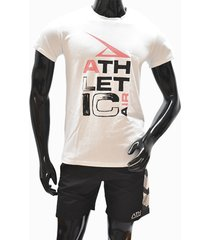 ***camiseta tshirt-blanco-rojo athletic air m