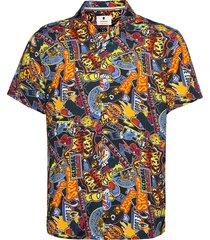 aleo ss viscose aop kortärmad skjorta multi/mönstrad anerkjendt