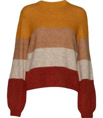 maville knit o-neck gebreide trui multi/patroon second female