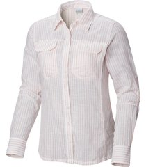 blusa m/c camp henry long sleeve shirt multicolor columbia