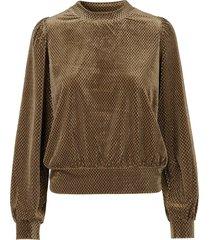 sweater met lurex nancy  bruin