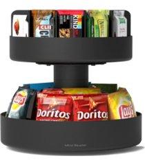 mind reader 2 tier lazy susan granola bar and snack organizer