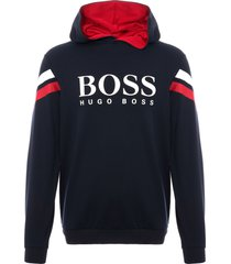 boss dark blue authentic logo sweatshirt 50398500-403