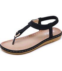 sandalias mujer zapatos planos con hebilla metálica