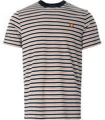 fred perry fine stripe t-shirt | snow white | m1608-129