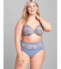 lane bryant women's level 1 smoother full brief panty 22/24 watercolor floral