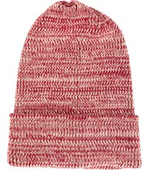 0711 mottled beanie - red