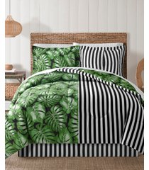 fairfield square bermuda palm 8pc queen comforter set bedding