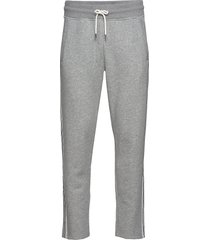 d1. gant stripe sweat pants sweatpants mjukisbyxor grå gant