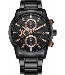 gli uomini d'acciaio completi di affari guarda l'orologio maschio di lusso dell'orologio impermeabile del quarzo dell'orologio della data