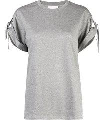 3.1 phillip lim tied short-sleeved t-shirt - grey