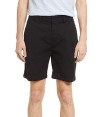 men's monfrere men's cruise marine twill chino shorts, size 30 - black