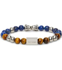 matt & nat laughing buddha stone bead bracelet, black
