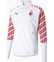 ac milan stadium voetbaljack heren, wit/rood, maat s   puma