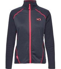 kari f/z fleece sweat-shirts & hoodies fleeces & midlayers grå kari traa