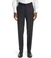 men's ermenegildo zegna micronsphere classic fit wool dress pants, size 48 eu - black