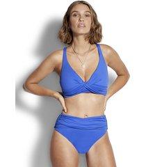 seafolly wrap front bikini blue