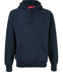 supreme sequin arc hoodie - blue