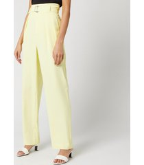 simon miller women's barr trousers - sea lemon - s
