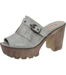 sandalia gris via franca