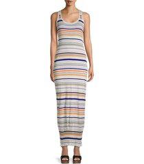 m missoni women's stripe maxi tank dress - size 44 (8)